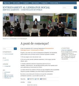 Imatge blog Entrenament al Lideratge Social - ApS Comunicacio en public