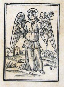 Angel amb un lliri a la ma